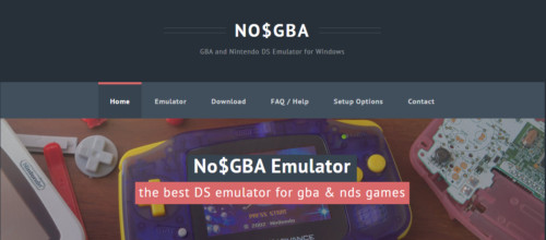 The official NO$GBA website.