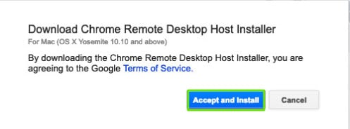 Chrome Remote Desktop Host Installer