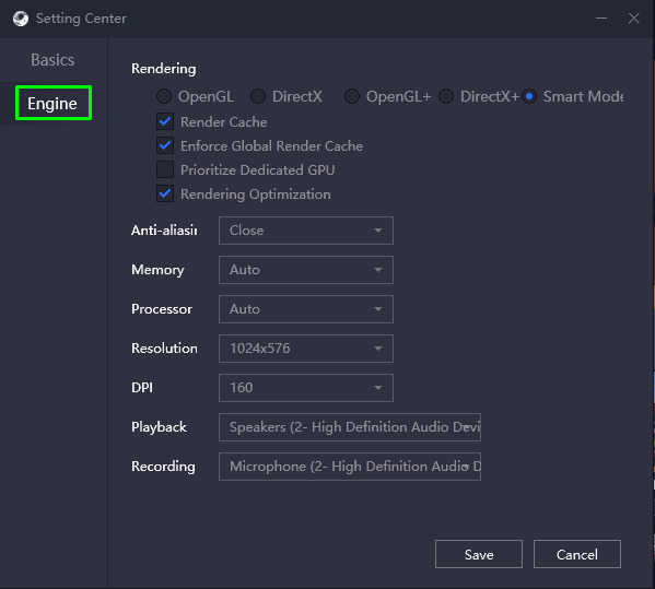 Gameloop Settings to fix 98% error