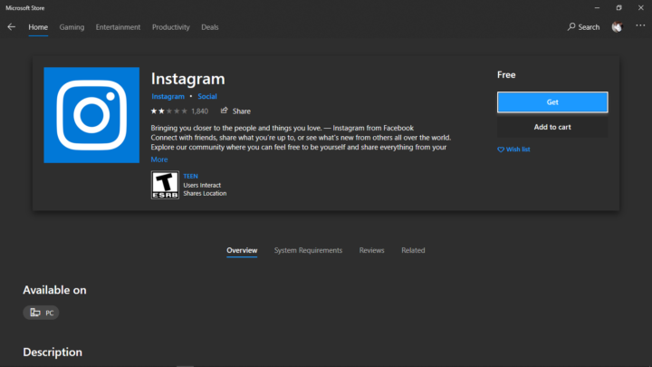 Installing Instagram App For PC