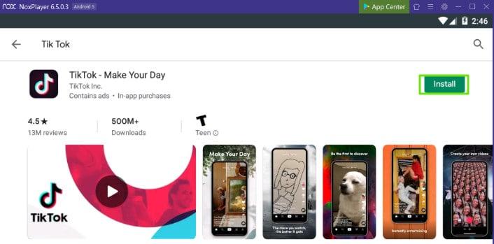 Tik Tok Download Using Nox App Player