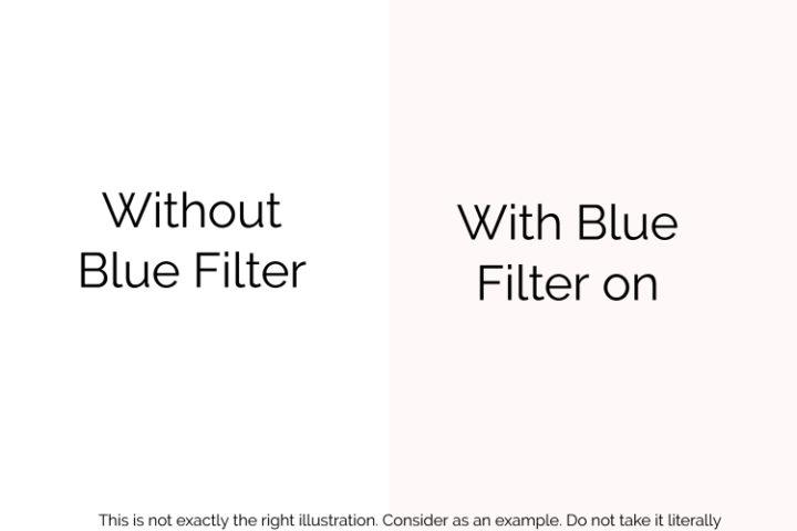 windows 10 blue light filter night mode illustration