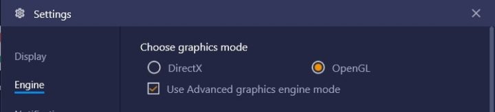 Choose Graphics Modes