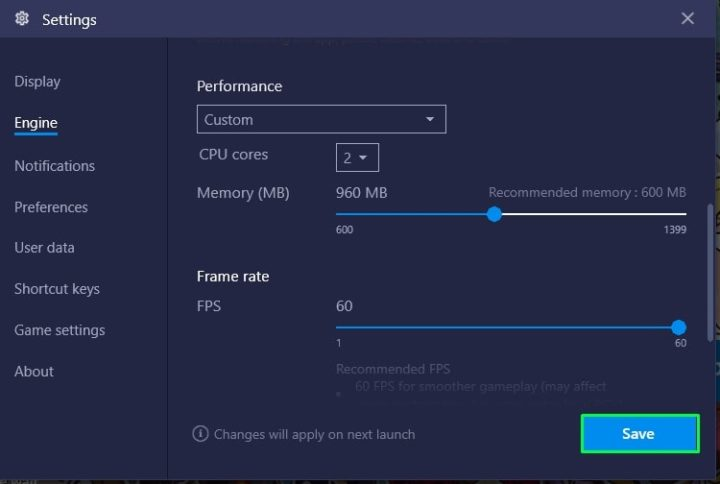 Increase Bluestacks RAM Space