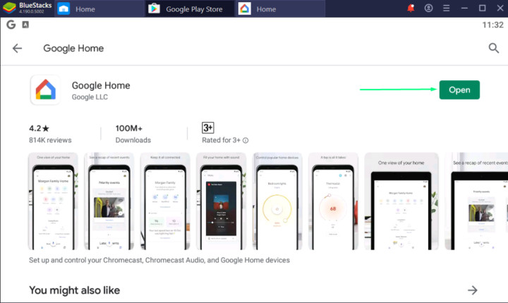 Launch Google Home App